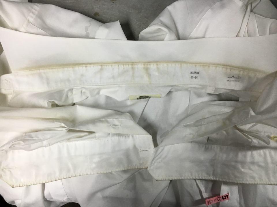 ワイシャツ汚れ ビフォー